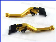 Ducati 848/EVO (07-13), CNC levers short gold/black adjusters, F11/H11